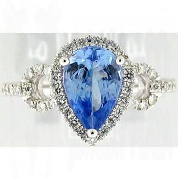 3.00Ctw Tanzanite and Diamonds Ladies Ring