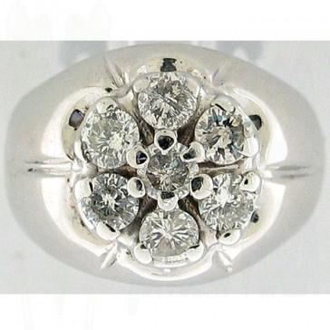 1.10Ctw  Man's Righ Hand Diamond Ring