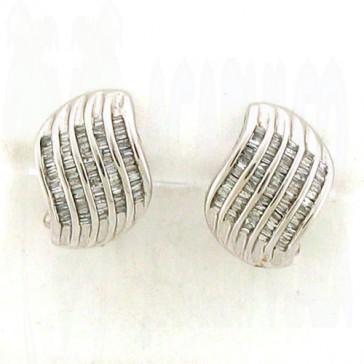 0.76ct Ladies Diamond Earrings 14K