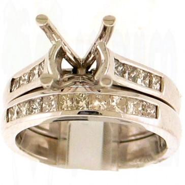 0.80ct Engagement Diamond Ring Set