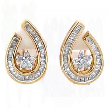 1.00ct Ladies Diamond Earrings