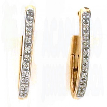 0.30ct Ladies Hoop Diamond Earrings