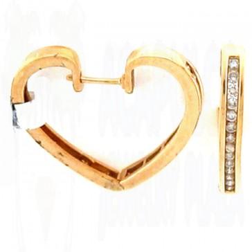 0.85ct Ladies Hoop Diamond Earrings
