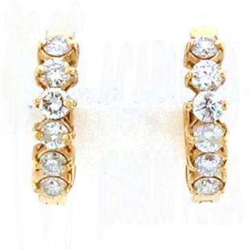 1.50ct Ladies Hoop Diamond Earrings