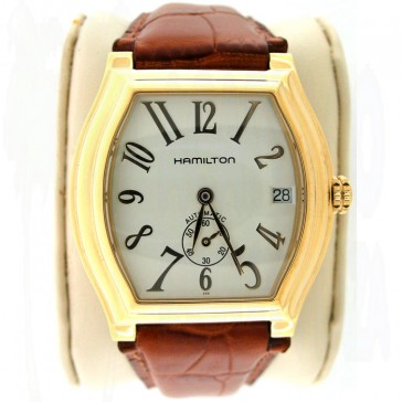 Hamilton Barrel Watch. Rare 14k Yellow Gold Filled