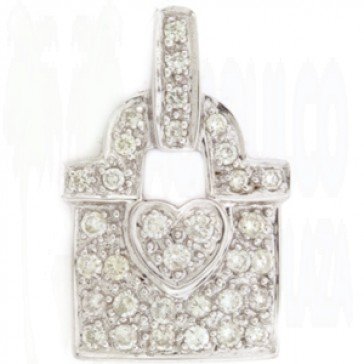 0.48ct Ladies Diamond Pendant
