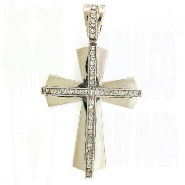 0.55ct Ladies Diamond Cross