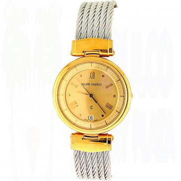 Philippe Charriol Gold Plated & Stainless Steel Ladies Watch
