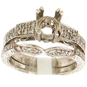 0.24ct Engagement Diamond Ring Set