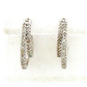 0.65ct Hoop Diamond Earrings