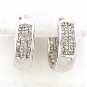 1.02ct Hoop Diamond Earrings