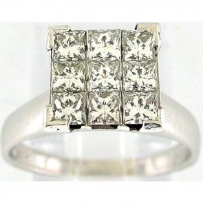 1.10Ctw Ladies Engagement Diamond Ring