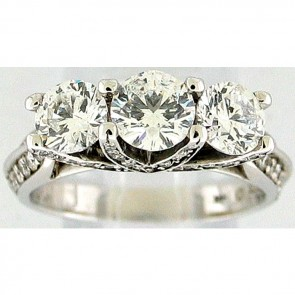 2.30Ctw Ladies Three Stone Diamond Ring