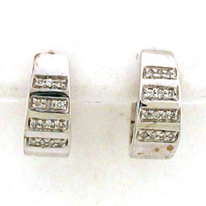 0.35ct Hoop Diamond Earrings