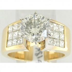 3.91Ctw Ladies Engagement Diamond Ring