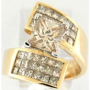 3.49Ctw Ladies Engagement Diamond Ring