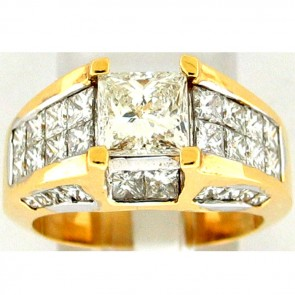 3.80Ctw Ladies Engagement Diamond Ring