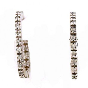 0.30ct Hoop Diamond Earrings