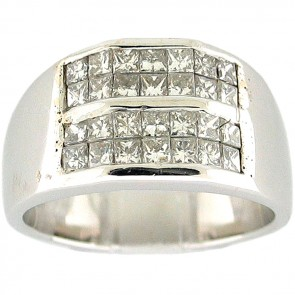 1.50Ctw Man's Right  Hand Diamond Ring