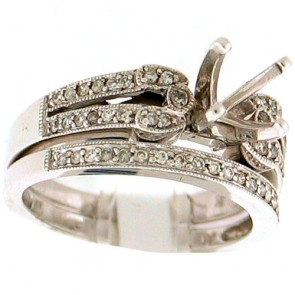 0.35ct Engagement Diamond Ring Set