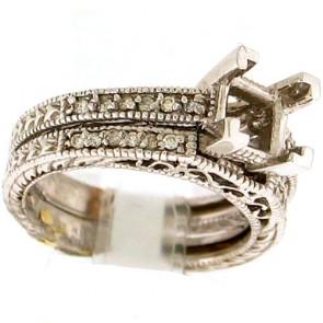 0.25ct Engagement Diamond Ring Set