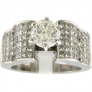 3.28Ctw Ladies Engagement Diamond Ring