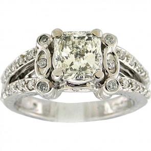 1.55Ctw Ladies Engagement Diamond Ring