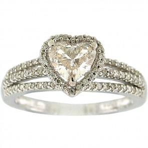 1.00Ctw Ladies Engagement Diamond Ring