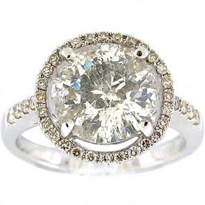 3.66Ctw Ladies Engagement Diamond Ring