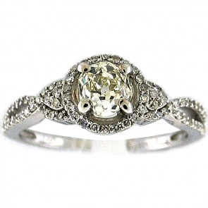 1.38Ctw Ladies Engagement Diamond Ring