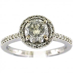 1.41Ctw Ladies Engagement Diamond Ring