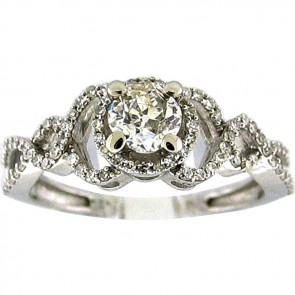 1.23Ctw Ladies Engagement Diamond Ring