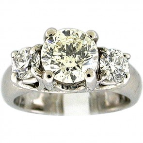 2.05Ctw Ladies Three Stone Diamond Ring
