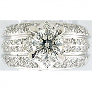 2.06Ctw Ladies Engagement Diamond Ring