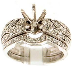0.35ct Engagement Diamond Ring Set