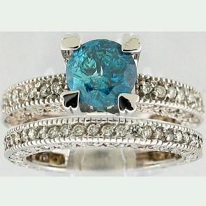 2.55Ctw Ladies Engagement Diamond Ring Set