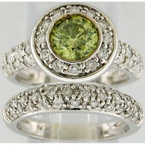 2.35Ctw Ladies Engagement Diamond Ring Set