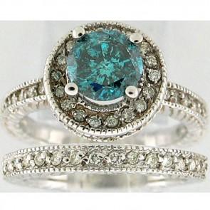 2.85Ctw Ladies Engagement Diamond Ring Set