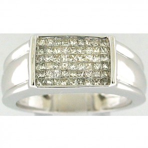 1.25Ctw Man's Righ Hand Diamond Ring