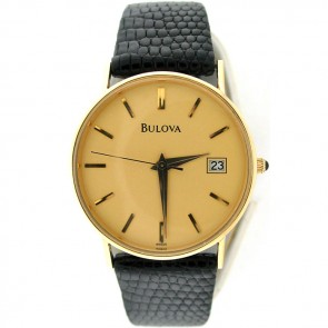 Vintage Bulova Men's 14k Gold Men's Quartz Watch