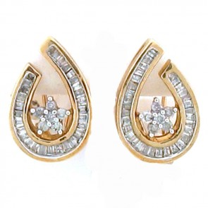 1.00ct Ladies Diamond Earrings