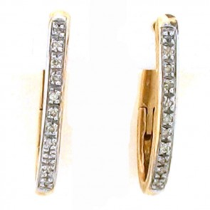 0.30ct Ladies Hoop Diamond Earrings