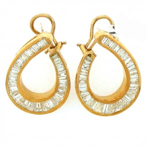 6.50ct Ladies Diamond Earrings
