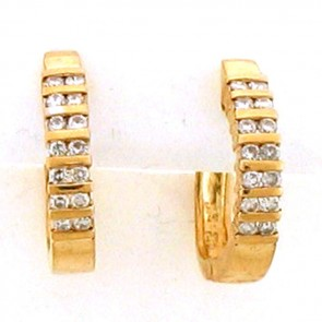 0.75ct Ladies Hoop Diamond Earrings