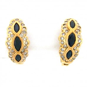 2.10ct Ladies Hoop Earrings