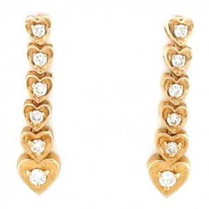 0.65ct Ladies Diamond Earrings