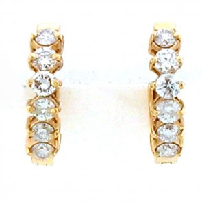 1.50ct Ladies Hoop Diamond Earrings