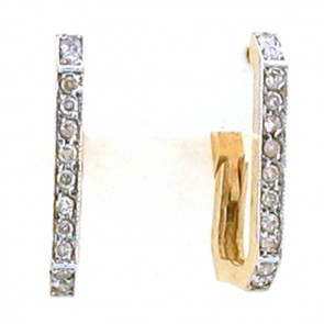 0.35ct Ladies Hoop Diamond Earrings
