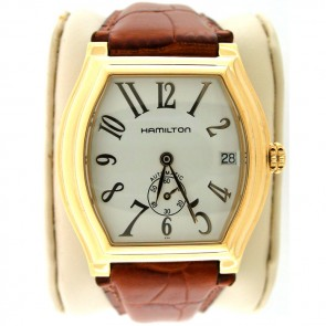Hamilton Barrel Watch. Rare 14k Yellow Gold Filled