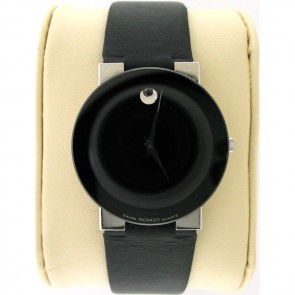 Movado Men's Black Dial Watch Museum